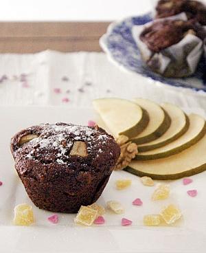 Obrázek - Datlové Muffiny s Hruškou a Vlašskými Ořechy