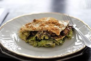 Obrázek - Lasagne s Houbami, Kapustou a Bešamelem