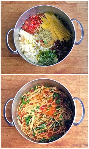 Obrázek - Eintopf Špagety z Jednoho Hrnce