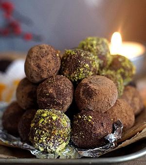 Obrázek - Čokoládovo karamelové lanýže s rumem